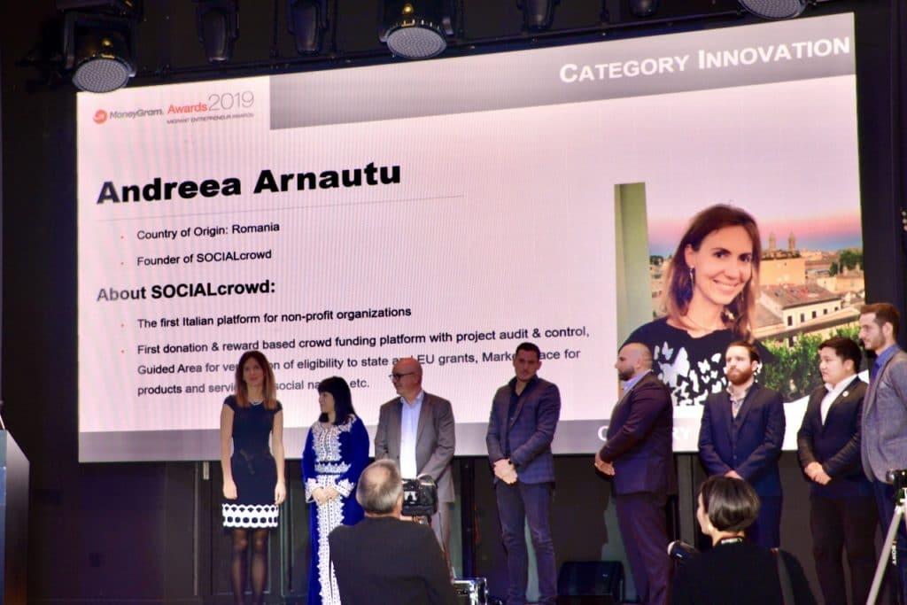 Andreea Arnautu ai MoneyGram Awards 2019