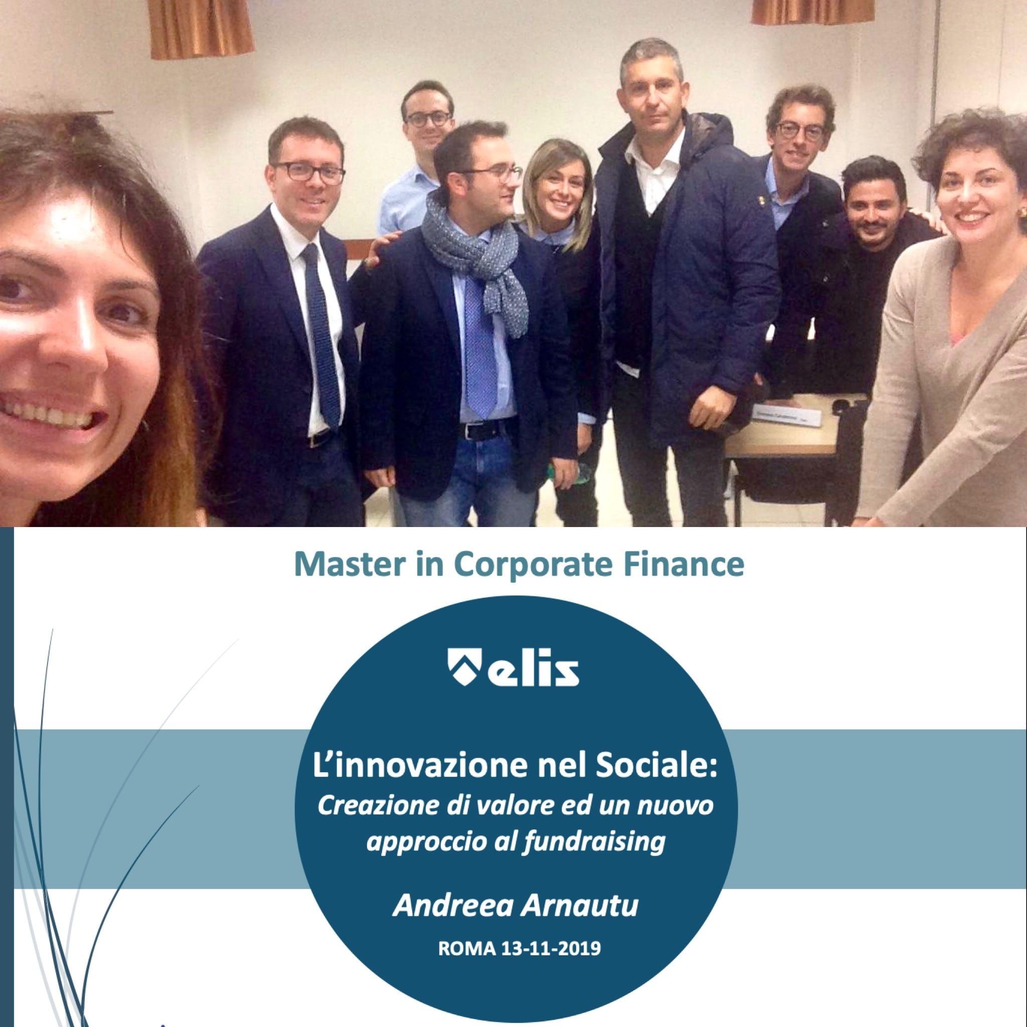 Innovazione sociale - Master Elis - Andreea Arnautu