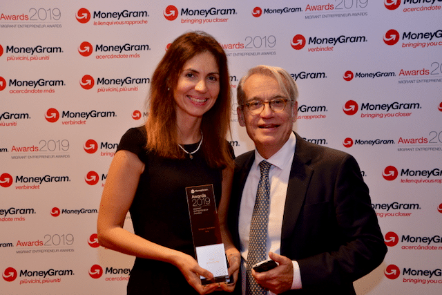 Andreea Arnautu e Stavros Papagianneas ai MoneyGram Awards 2019